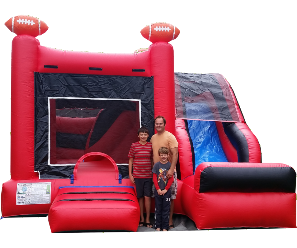 Husker Inflatable with Slide