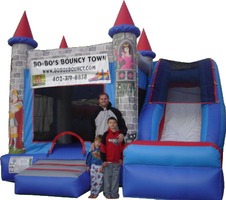 Princess Theme Bounce House with Slide