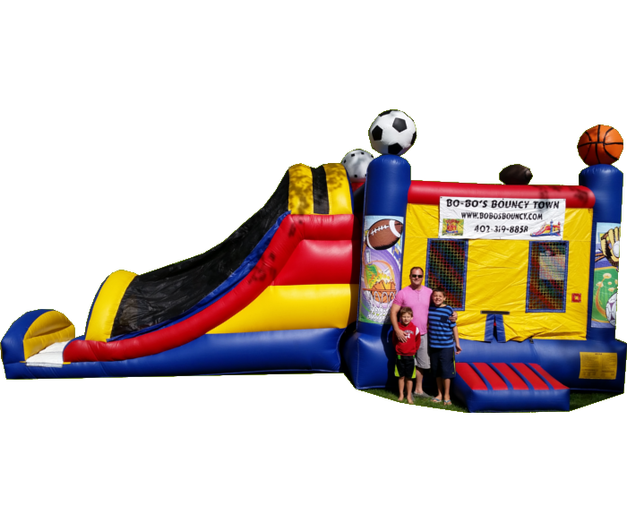 Sports Bounce House with a Slide